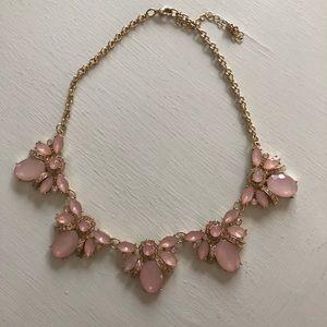 J.Crew pink statement necklace